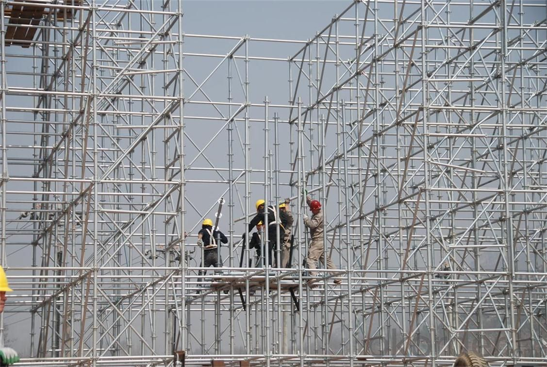 Ringlock Scaffolding System for Support  in Construction