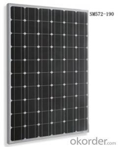 Monocrystalline Solar  module Black SM572-190