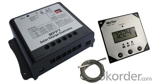 MPPT Solar charge congtroller+4-stage charging+Remote meter(Options)