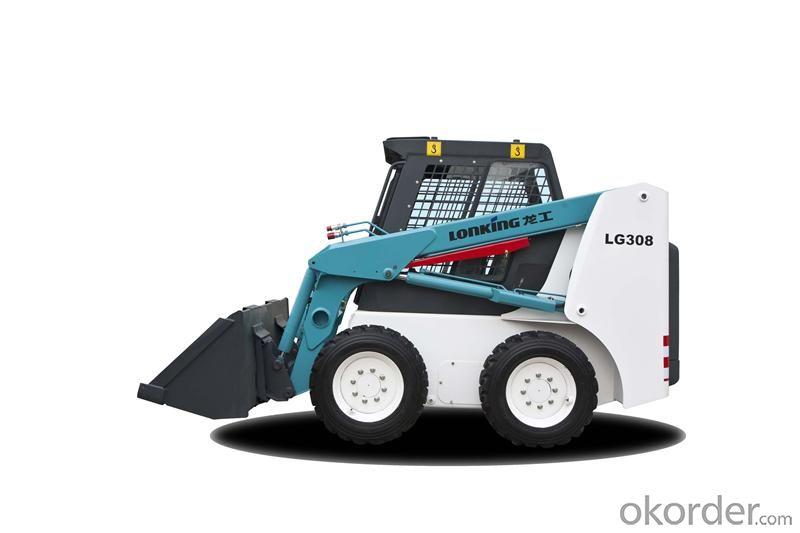 LONKING Brand Skid Steer Loader CDM308  with 810Kg Rated Load