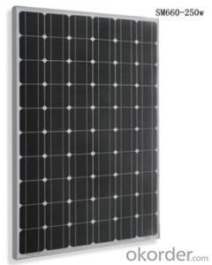 SM660-250w Monocrystalline Solar  Module  Black Series