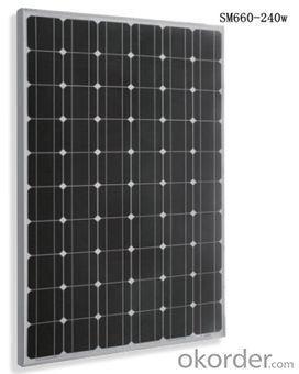 Monocrystalline Solar  Module  Black SM660-240w