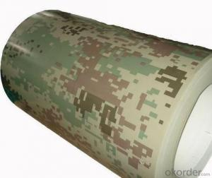 Print Prepainted Galvanized Steel Coil - Camouflage Pattern