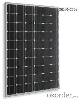 Monocrystalline Solar  module  Black SM660-255w
