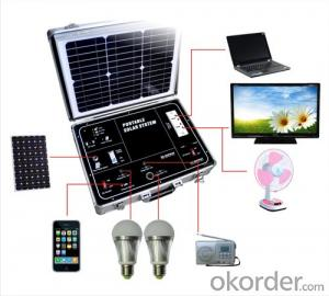 Portable solar power system+500W Modify sine wave+34W Solar panels