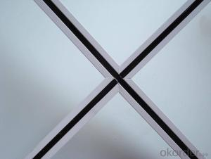 Ceiling Tee Grid Bar System White Color Black Grove