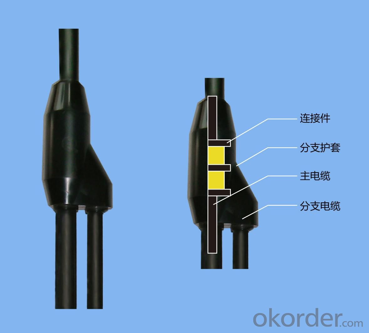 Assembled prefabricated branch cable FZ-W-3