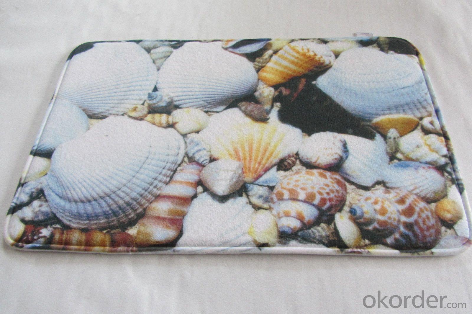 Anti slip PVC Polyester Memory Foam Bath Mat