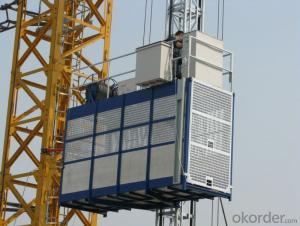 construction hoist SC100 single cage lifting