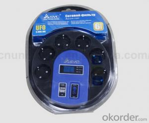 Electric Socket/ Euro Industrial Multi Led Display USB Universal Electric Socket