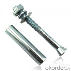 Galvanized Sleeve Anchors with Flange Nut Metal Sleeve Anchor