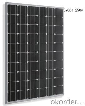 Monocrystalline Solar  Module SM660-250w