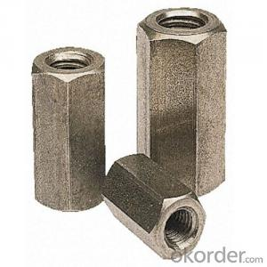 Zinc Plated Hex Coupling Nuts for Pipe Joint Use Punching Molding