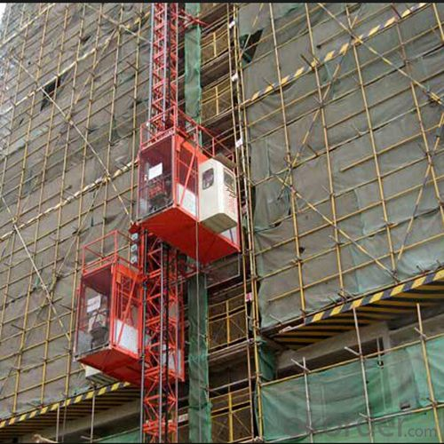 Construction Hoist Single Cage Material Lifting