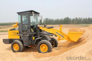 1800kg small wheel loader ZL18 / ZL918 wheel loader with wood grapple