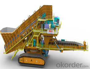 Semi-moving crushing station used on open mining