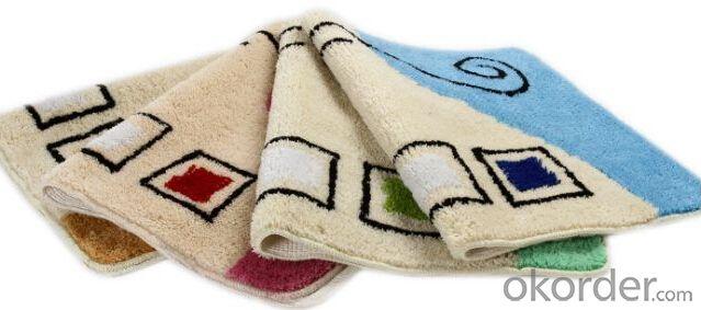 Household microfiber memory foam bath mat