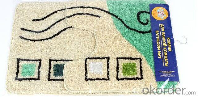 Tufted Acrylic Anti-Slip Mat Home Set  Latex Backing