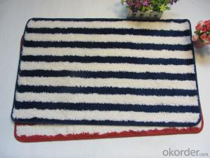 Washable Shaggy Door mat with Memory Foam and Latex Backing