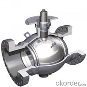 full welded forged steel ball valve DN 6 inch
