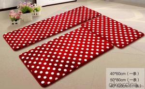 PVC Foam Coral Fleece Anti-fatigue Mat Microfiber Bath Mat