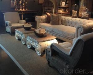 Saloon Sofa Set Fabric Material Velour Model 825