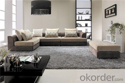 Living Room Sofa Set Fabric Material Velour Model 802-2