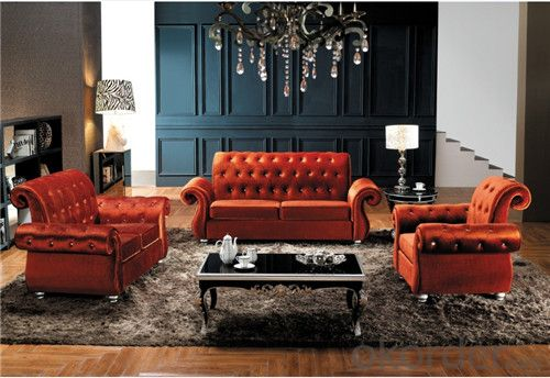Living Room Sofa Set Velvet Material Model 837