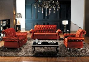 Living Room Sofa Set Velvet Material Model 839