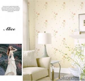 Non-woven Wallpaper Simple Elegant Waterproof Luxury for Bedroom