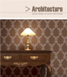 Non-woven Wallpaper 2015 Good Price Beautiful Modern Luxury Wallpaper