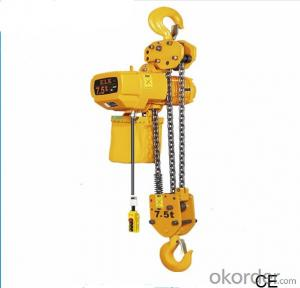 32 tons electric chain hoist with electric trolley