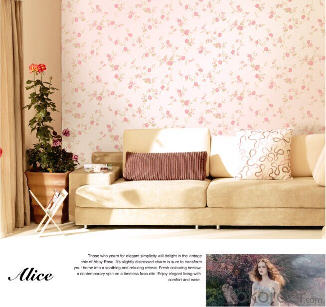Non-woven Wallpaper Rural Style Flower Bedroom Decoration Wallpaper