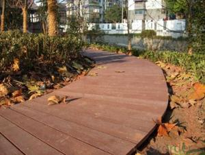 Out Decking/Factory price fire-resistant solid wood plastic composite WPC decking