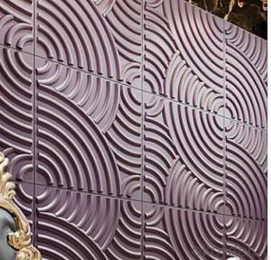 3D mural Wallpaper Wave Effect  for Building Material