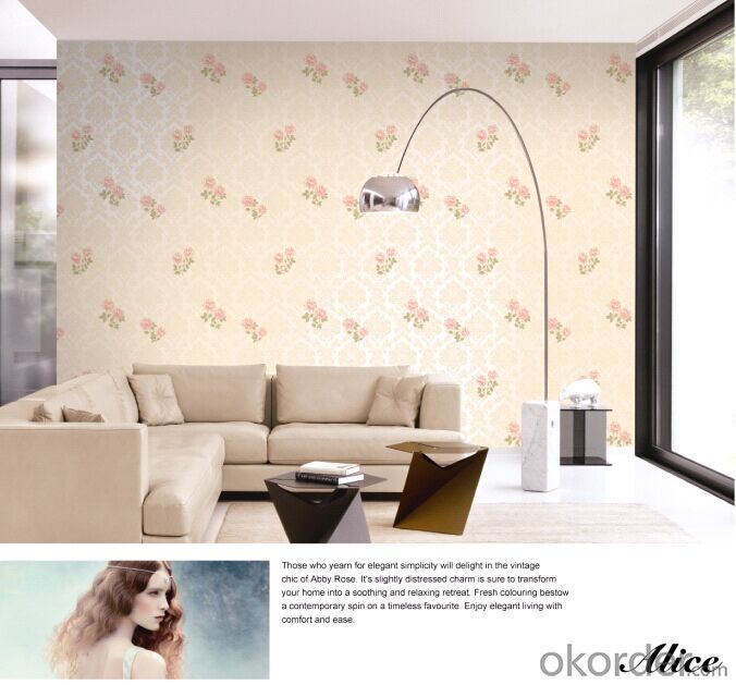 Non-woven Wallpaper Sunshine High-end Non-woven Home Wallpaper