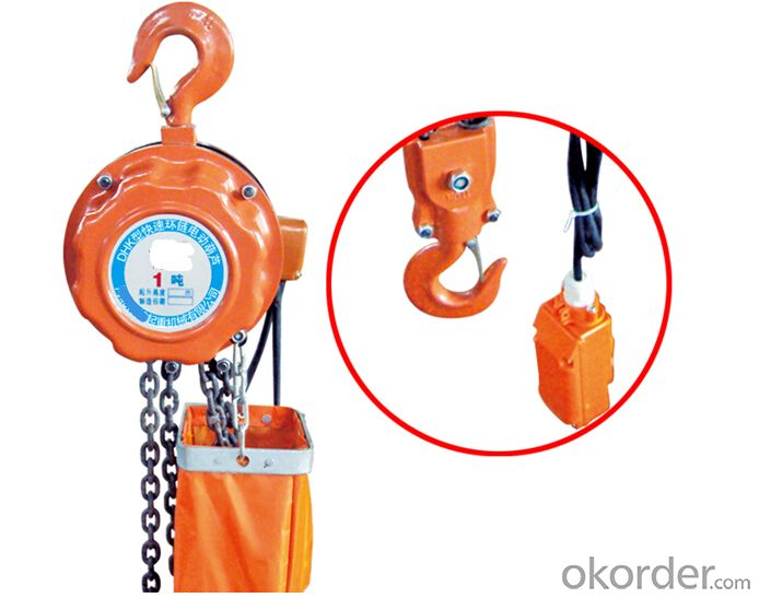 Cheap DHK 2ton Chain Sling Type Electric Hoist
