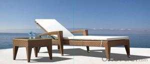 Rattan Sun lounger  Patio Sun Bed Wicker Outdoor Furniture