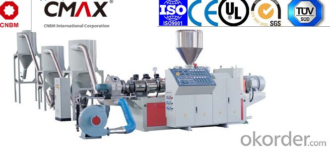CMAX Serious Counter Rotation Conical Twin-screw Pelletizing Machine