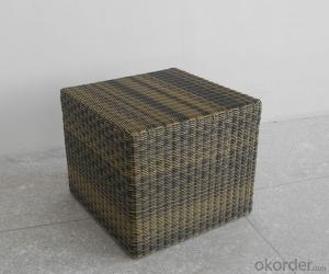 Patio Wicker Single Stool for Garden Outdoor Rattan CMAX-SC005