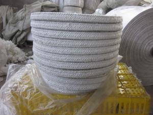 White ceramic fiber twist rope for high temperature heat resistance