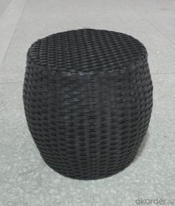 Outdoor Rattan Single Stool for Garden use Patio Furniture