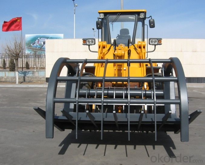 Steel Grab Mmachine, Front End Loader with Steel Grab, Wood Grapple