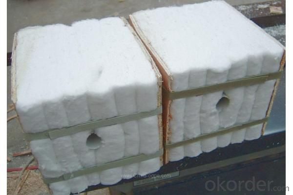 Ceramic fiber module for refractory furnace
