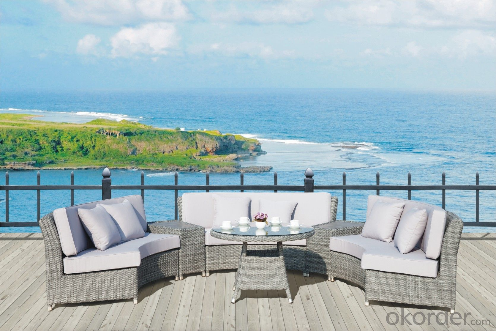 Garden Sofa PE Rattan with Aluminum Frame  CMAX-YT013