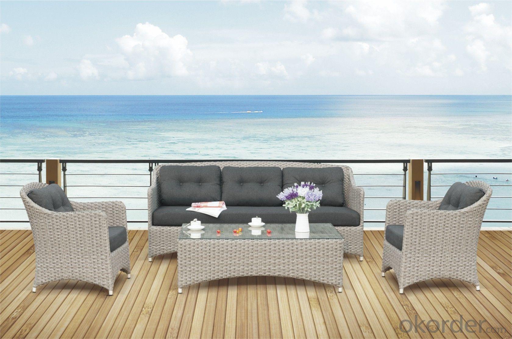 Garden Sofa PE Rattan with Aluminum Frame  CMAX-YT011