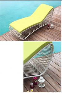 White Rattan Sun Lounger for Outdoor Furniture  Garden Beach Side CMAX-SL002MYX