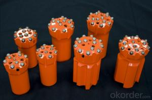 taper button bit dia 34, 36,38 from China