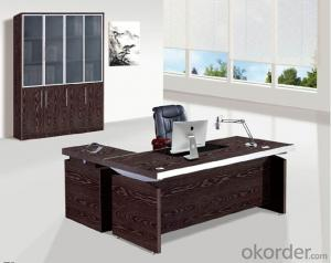 Office Table/Commerical Desk Classical Boss Table Solid Wood/MDF/Glass with Best Price CN802