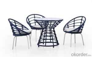 Round Rattan Dinning Set with 6 Chairs CMAX-DC010LJY